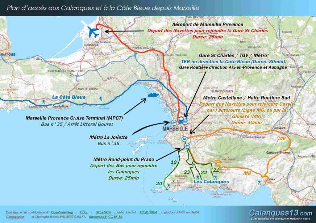 plan d'accès aéroport de marseille